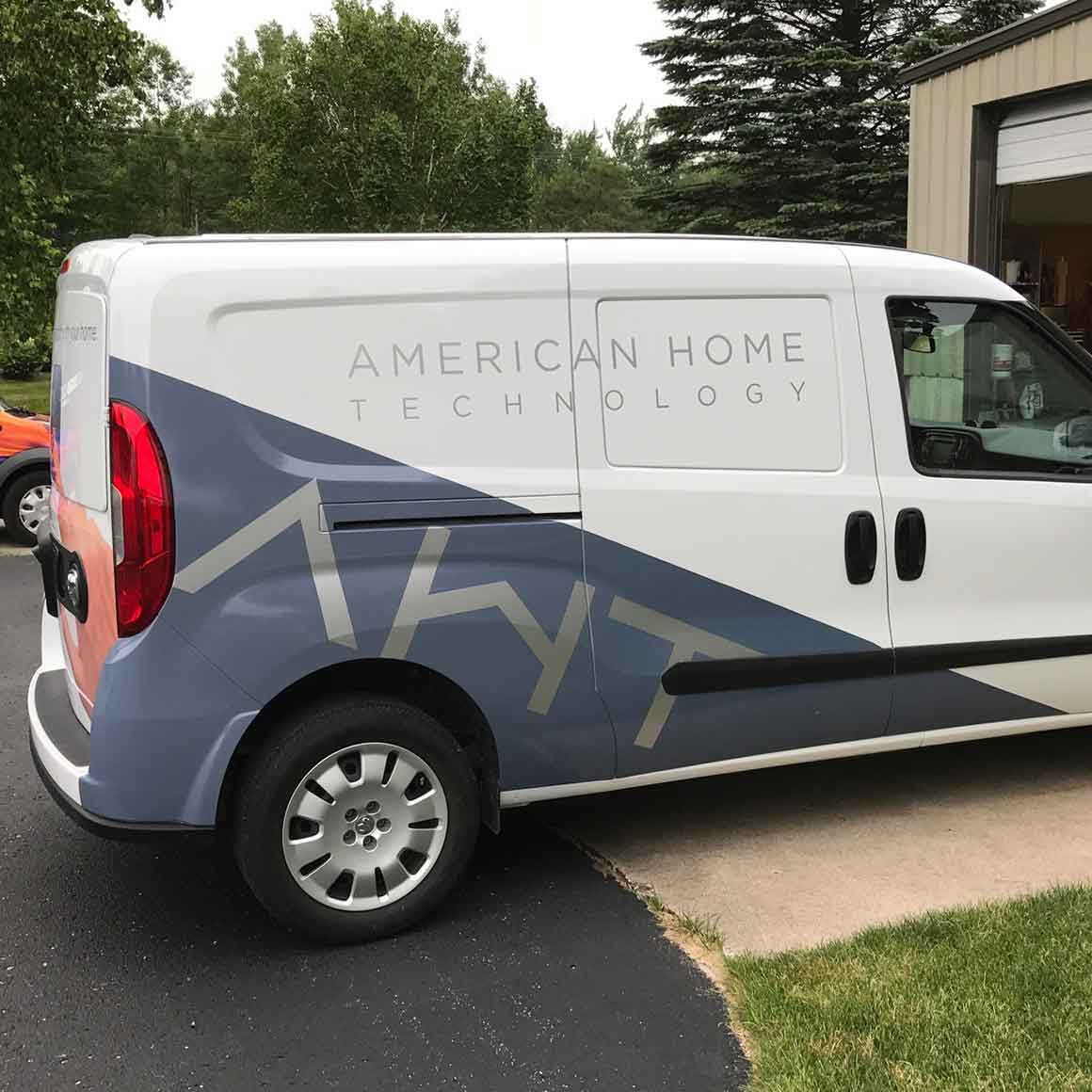 american home technology vehicle lettering