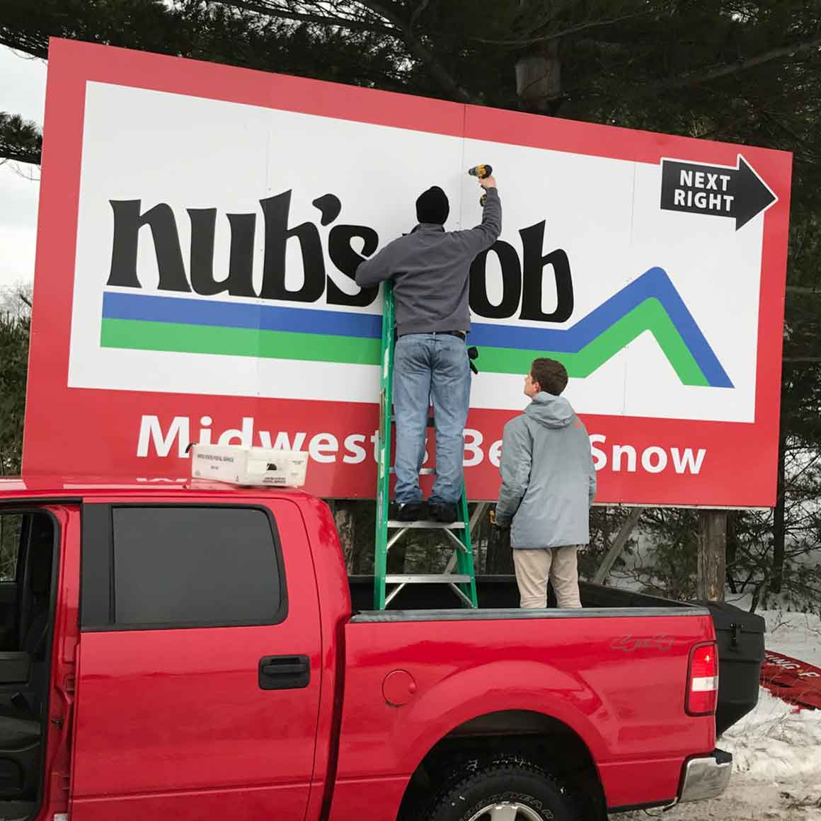 nubs nob billboard sign