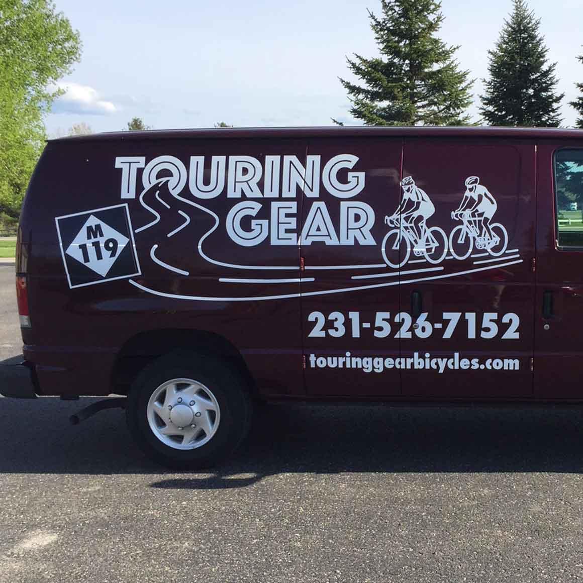 touring gear van lettering